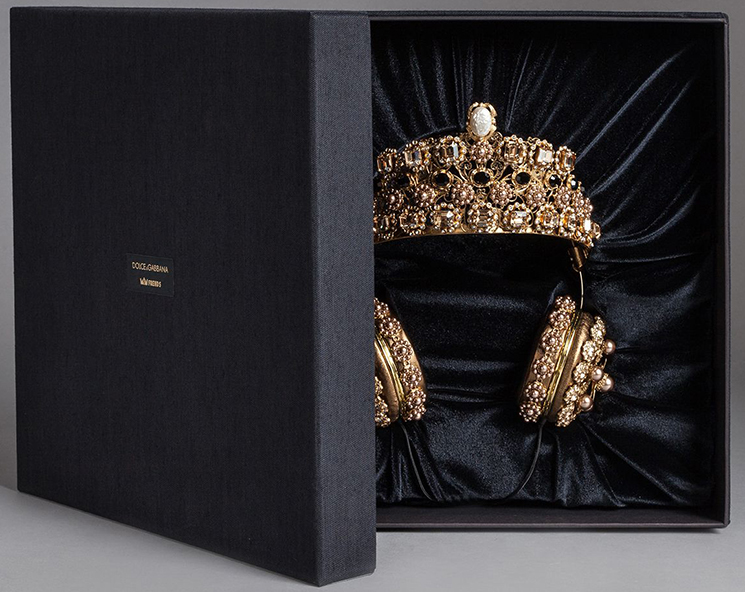 adc4c33a7f1f Dolce and Gabbana Crown Rhinestone Headsets - FunnyZas