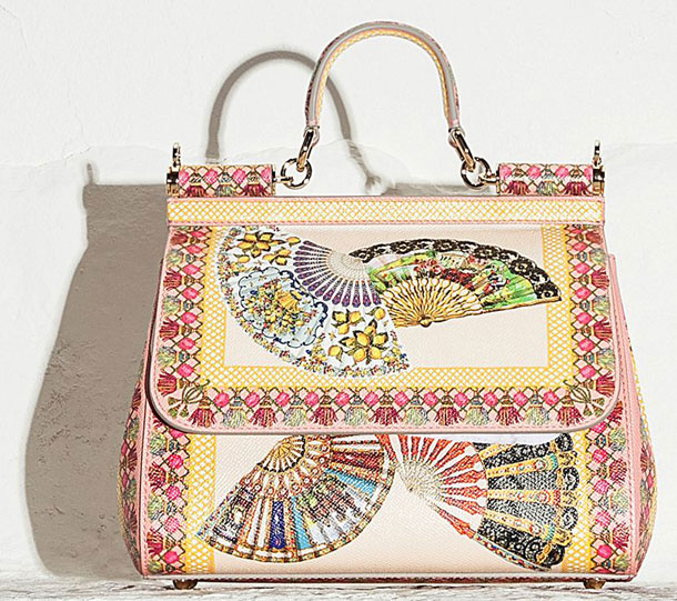 55a9a8c0fb6b Dolce And Gabbana Fan Foulard Bag Collection - FunnyZas