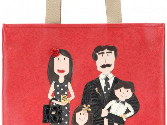 Dolce & Gabbana Family Leather Shopping Bag