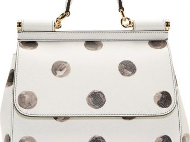 Dolce And Gabbana Miss Sicily Bag in White Polka Dots